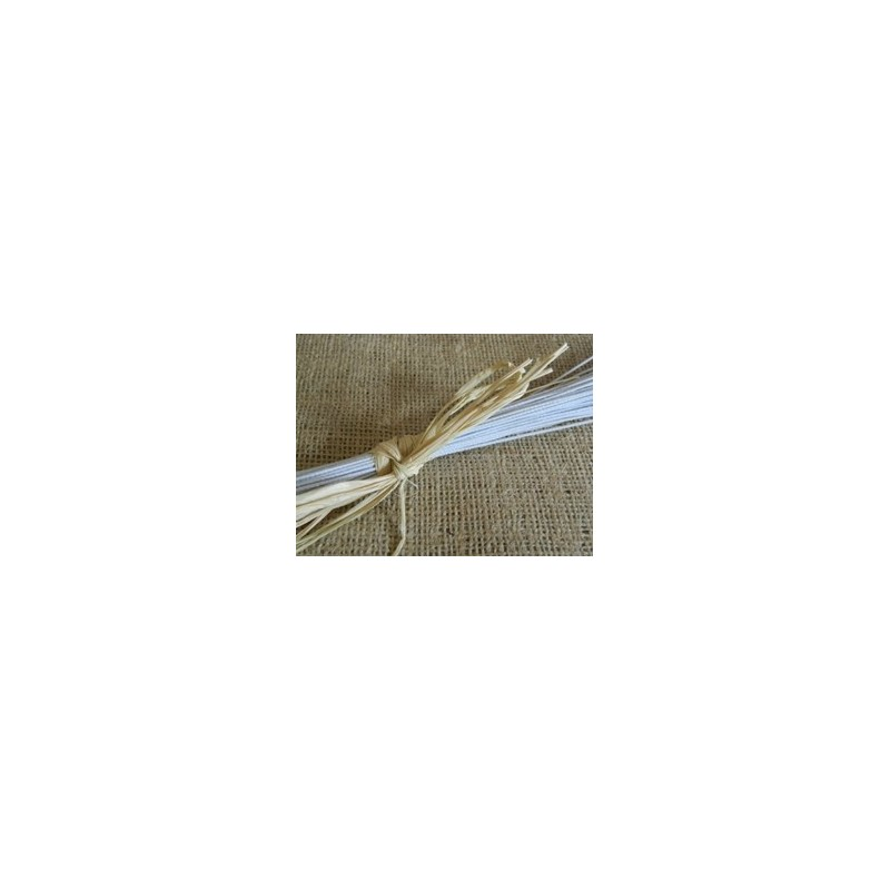 22 Gauge White Cloth Covered Wire