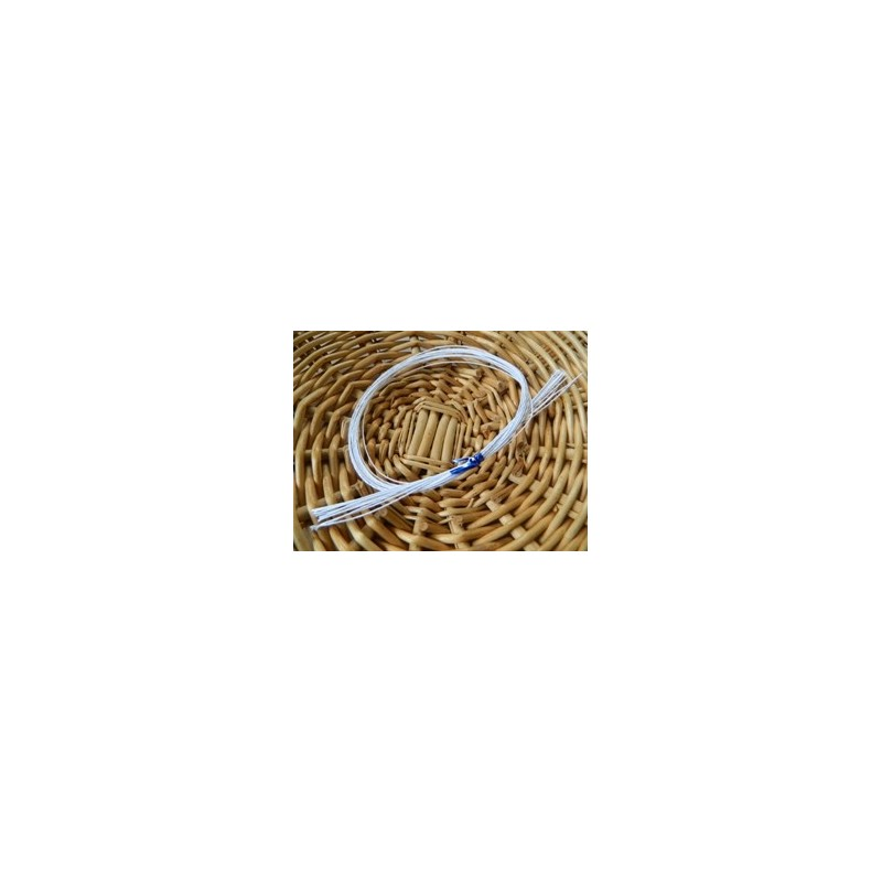 32 Gauge White Cloth Covered Wire