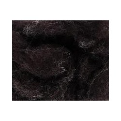 Carded Sliver 50g - Black Brown