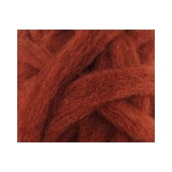 Carded Sliver 50g - Red Brown