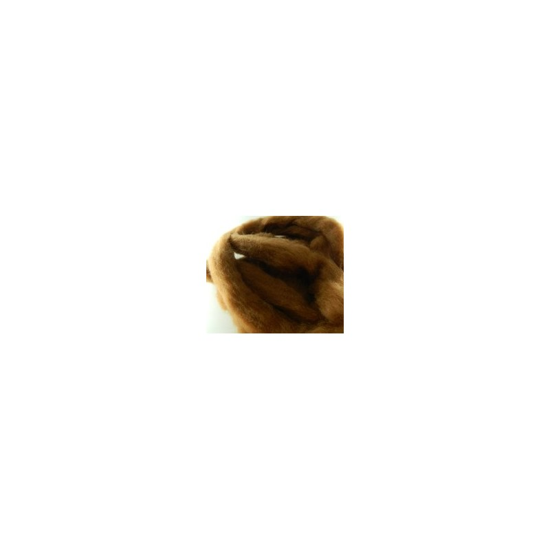 Carded Sliver 50g - Tan Brown