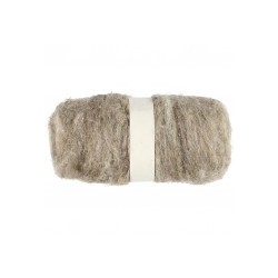 Carded Wool Fibre Natural Grey