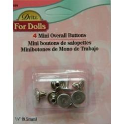 Dritz Mini Overall Buttons Pk4