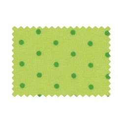 Cotton Velour 1/2m Green Spot