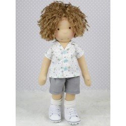 "Boy Rag Doll Pattern 18""..."